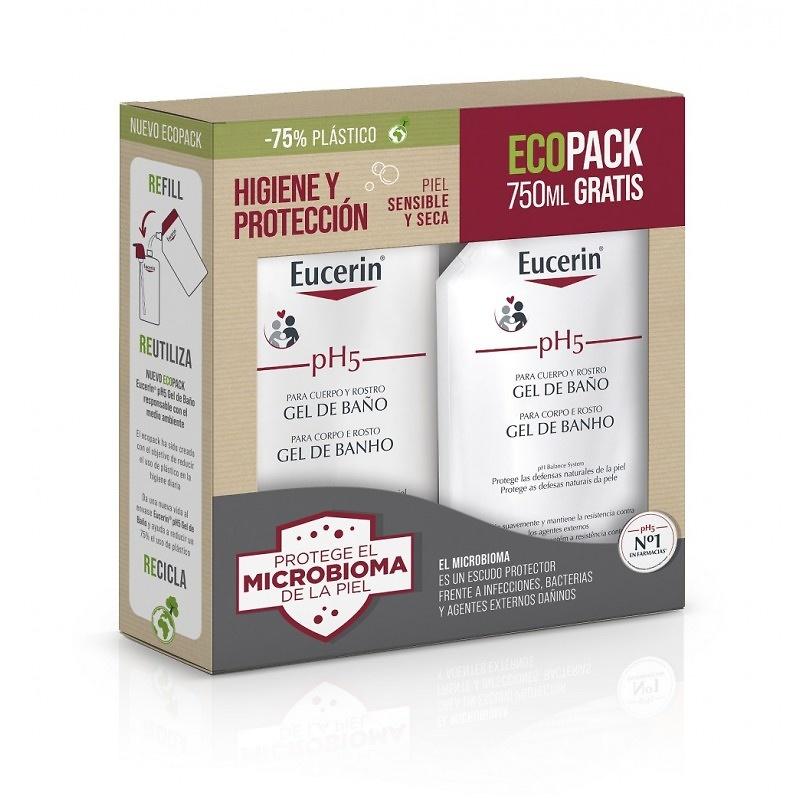 -Eucerin ph5 Gel 1000 ml + Regalo 400 ml