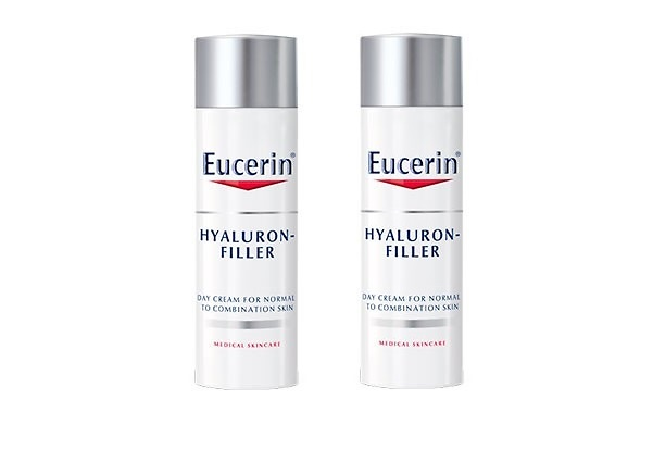 -Eucerin Hyaluron Filler Crema día Piel Normal y Mixta DUPLO 50 + 50 ML