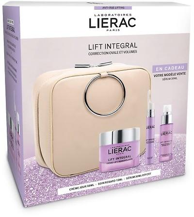 -Lierac Lift Integral Neceser crema remodelante piel normal-mixta 50ml + sérum ojos y párpados 15ml + REGALO sérum lift 30ml