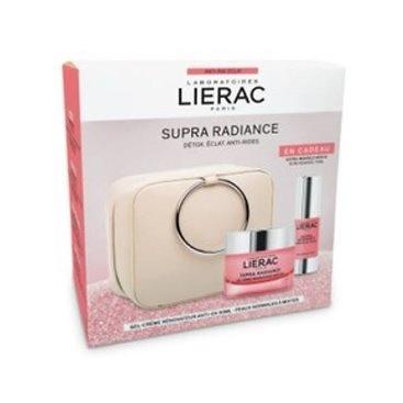 -Lierac SupraRadiance Neceser gel crema antiox piel seca 50ml + sérum iluminador ojos 15ml