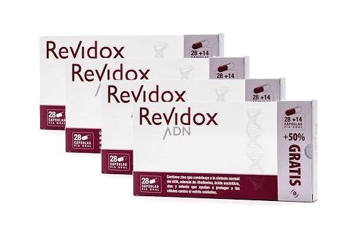 -Pack 4 Revidox adn 28 cáp + 14 de Regalo (168 Cap)