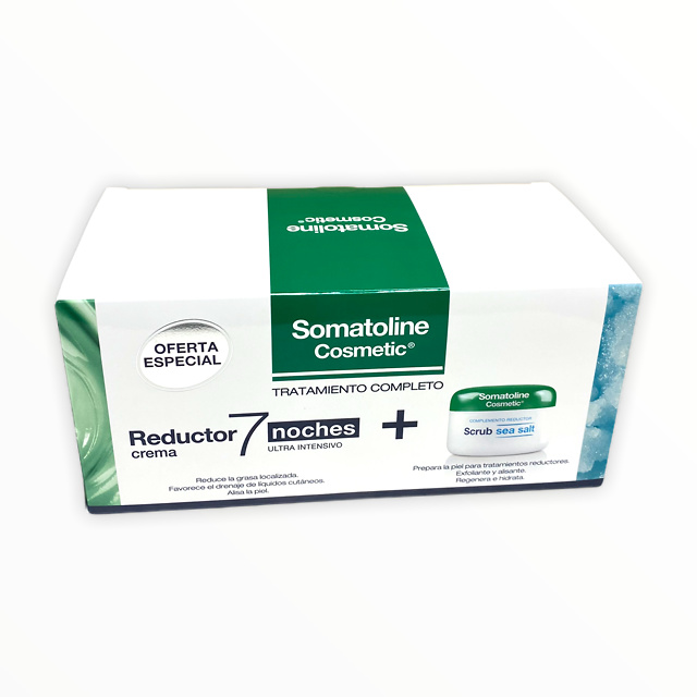 -Somatoline Pack reductor 7 noches ultraintensivo crema 400ml + crema exfoliante sal marina 350g