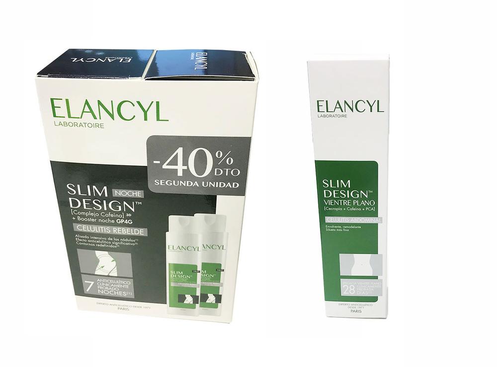 Elancyl Slim Desing duplo noche celulitis resistente 2x 200ml + Regalo Celu Slim Vientre Plano 150 ml