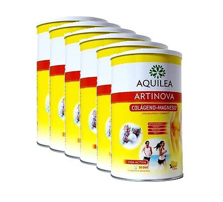 Aquilea Articulaciones Colágeno + Magnesio 375g sabor limón Pack 6 Unidades