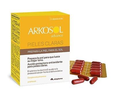 Arkosol advance pieles claras 30 cápsulas