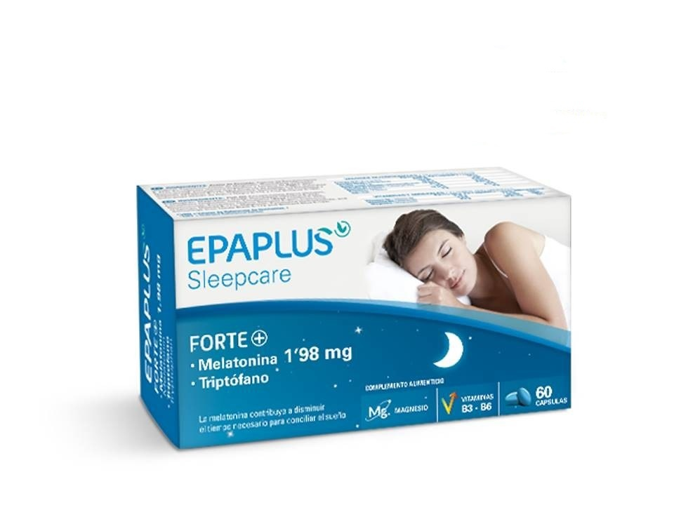 Epaplus Forte Plus melatonina 1.98mg y triptófano 60 cápsulas