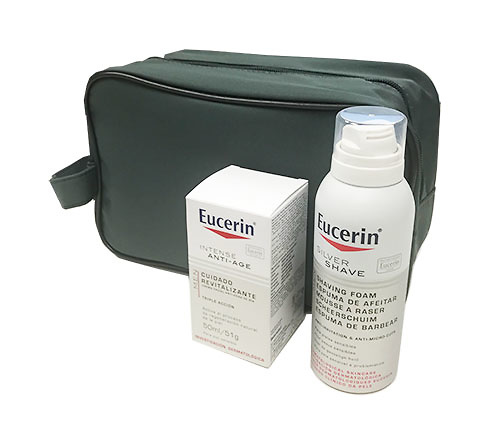 Eucerin MEN Crema facial anti-edad 50ml + Regalo Espuma 150ml + Regalo Neceser