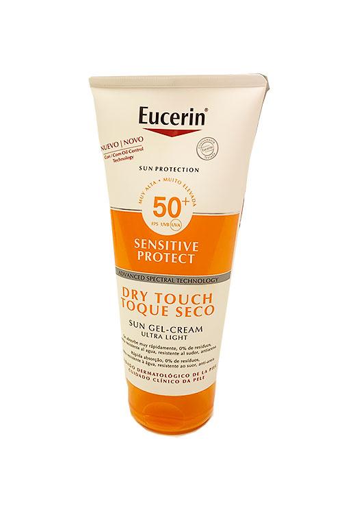 Eucerin sun protection sensitive gel-crema toque seco SPF50+ 200ml