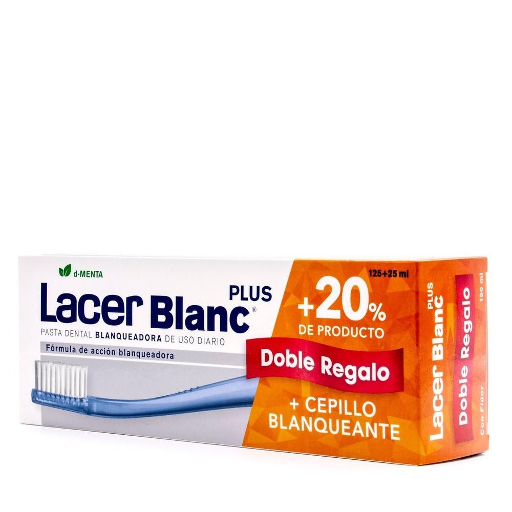 Lacerblanc plus sabor menta 125ml + Regalo 25 ml y cepillo blanqueante