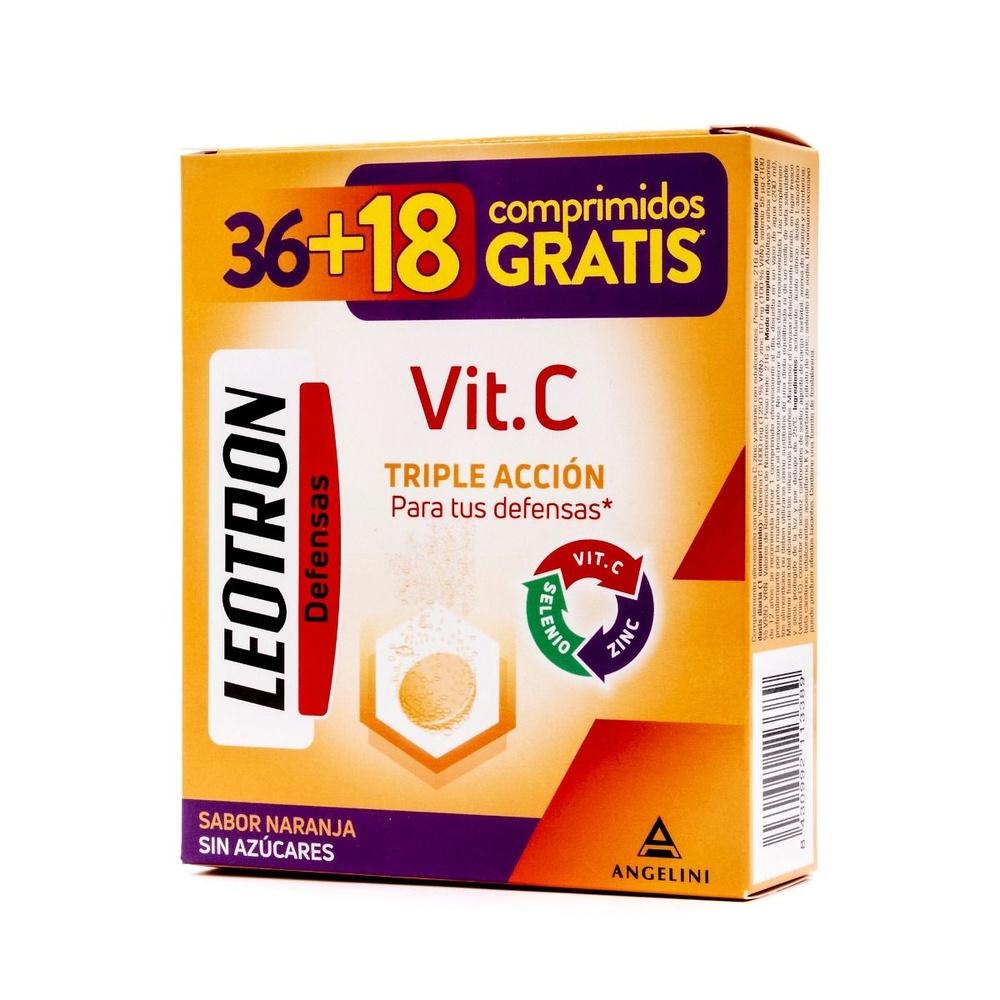 Leotron vitamina C 36 comprimidos efervescentes + 18 comprimidos Gratis