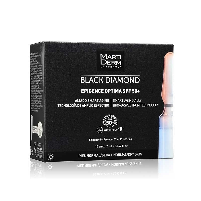 Martiderm Black diamond epigence optima SPF50+ 10 ampollas