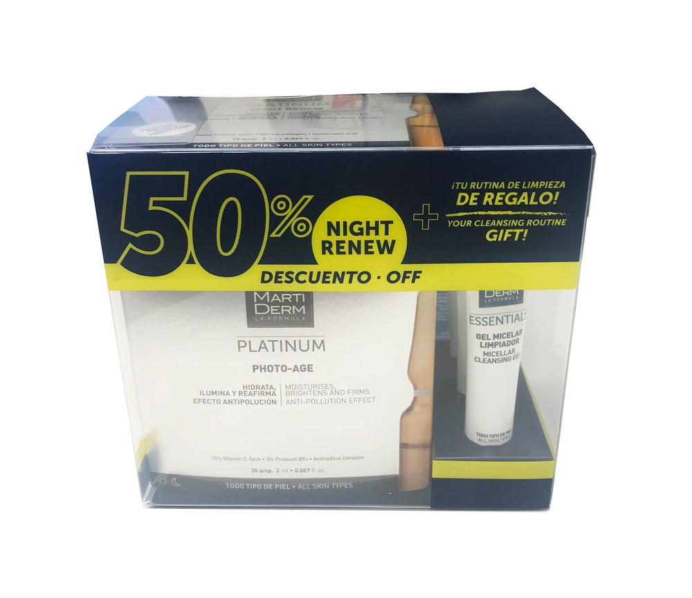 Martiderm Platinum PHOTO-AGE 30 ampollas + 10 ampollas night renew