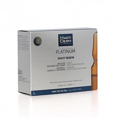 Martiderm Platinum night renew (Alfa Peeling) 10 ampollas 2ml