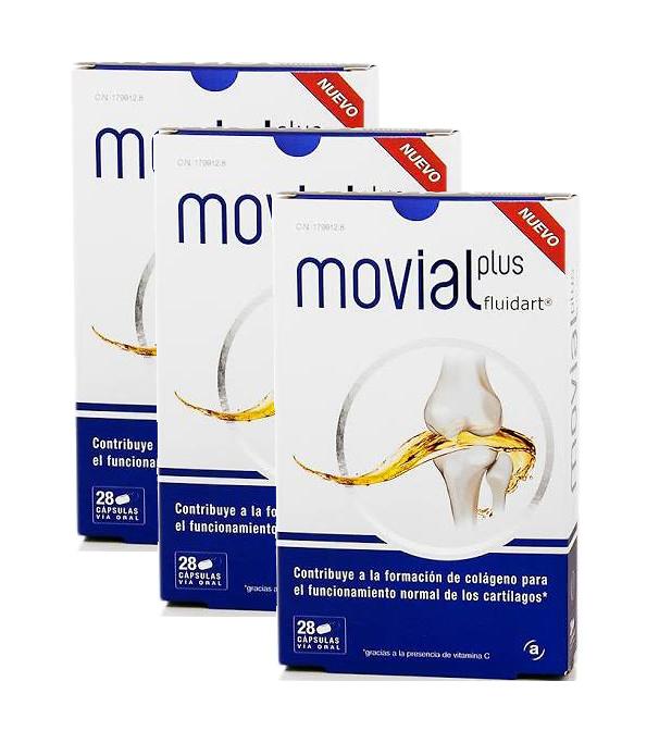 Movial Plus Fluidart Pack 3 x 28 Capsulas