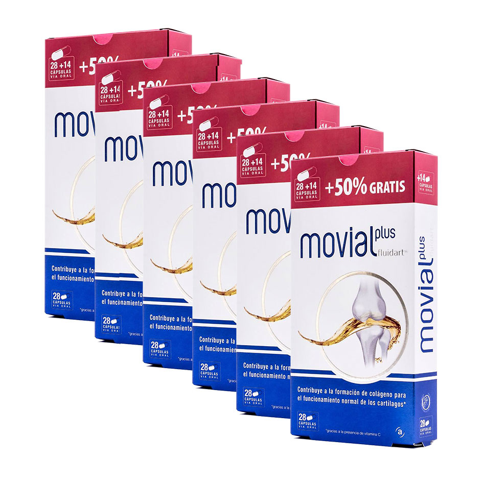 Movial Plus Fluidart Pack 6 x 28 Cap + 14 de Regalo (total 252 Cap)