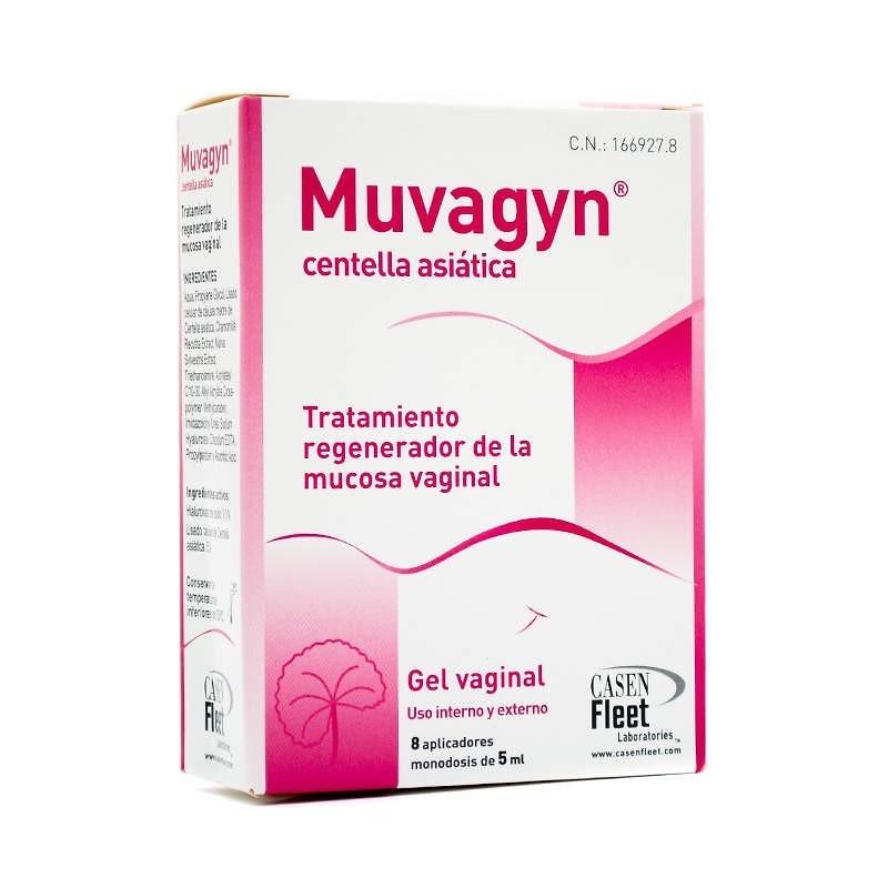 Muvagyn centella asiática tratamiento regenerador vaginal 8 aplicadores 5 ml