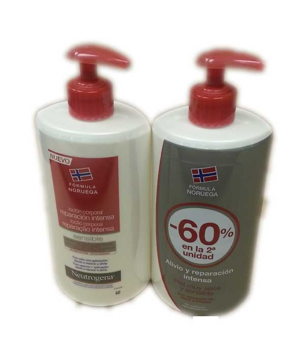 Neutrogena loción corporal reparadora intensa piel muy seca y sensible duplo 2x750ml