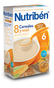 Nutriben 600 G 8 Cereales Miel Galleta