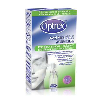 Optrex actimist spray 2 in1 para ojos cansados y molestos 10ml