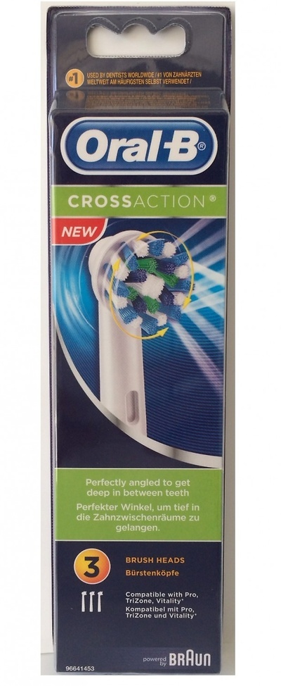 Oral-B Recambio cepillo eléctrico crossaction 3 unidades