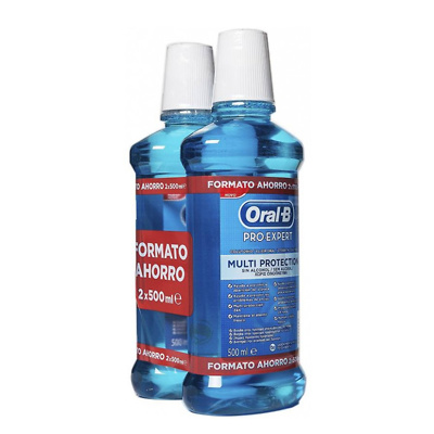 Oral-B Pack enjuague bucal menta fresca pro-expert 2x500ml