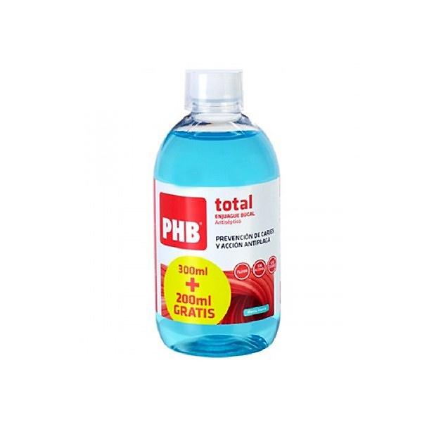 PHB Total enjuague bucal menta fresca 300 + 200ml GRATIS
