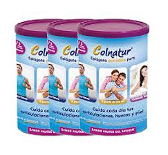 Pack 3 Colnatur Colágeno 315 gr sabor Frutas del Bosque