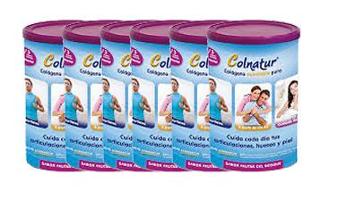 Pack 6 Colnatur Colágeno 315 gr sabor Frutas del Bosque