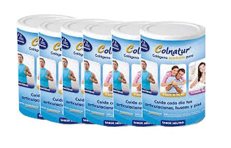Pack 6 Colnatur Colágeno 300 gr sabor neutro