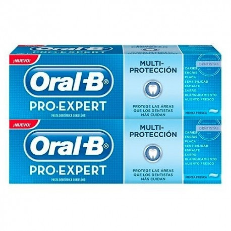 Oral-B Pack pasta dentífrica pro-expert multiprotección 2x125ml