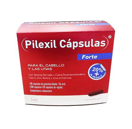 Pilexil Cápsulas FORTE cabello y uñas 100 cápsulas +20 capsulas de regalo