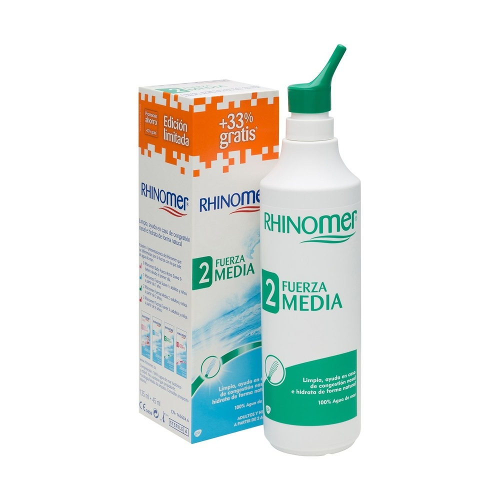 Rhinomer Fuerza 2 spray nasal 135ml + 45ml gratis
