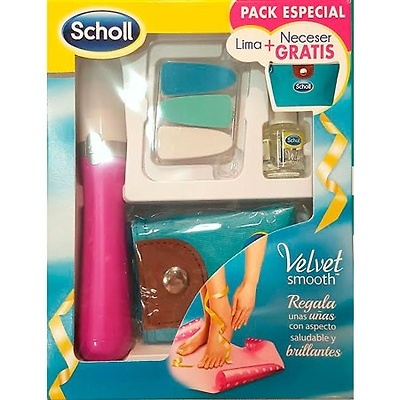 Dr Scholl lima electrónica velvet smooth de uñas + regalo neceser y aceite de uñas 3ml