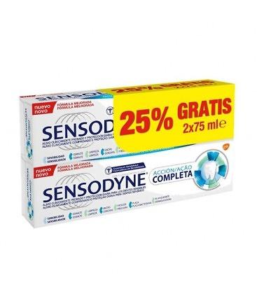 Sensodyne acción completa PACK pasta dentífrica 2 x 75ml - HIGIENE ... 4ae90937f681