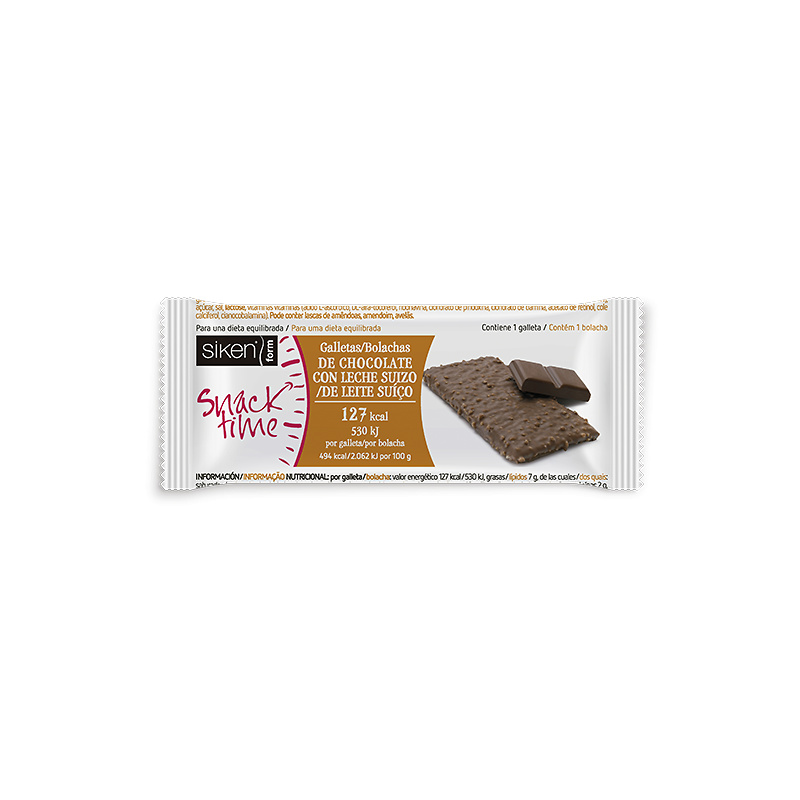 Siken Form Galleta Chocolate Con Leche 25 Gr