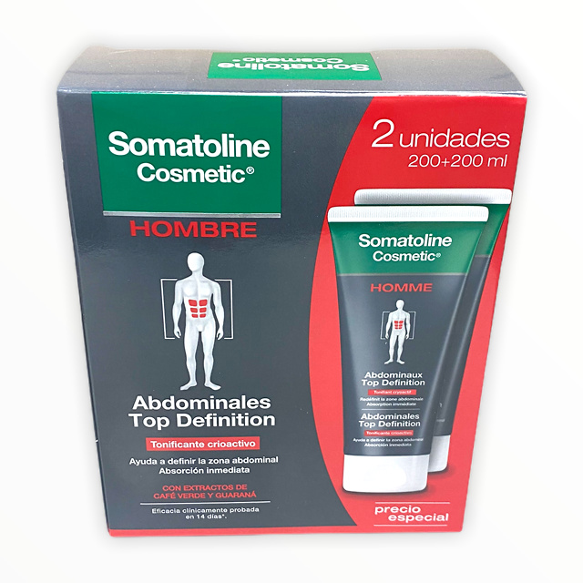 Somatoline Hombre Top Definition Sport Cool 400 Ml (200+200)