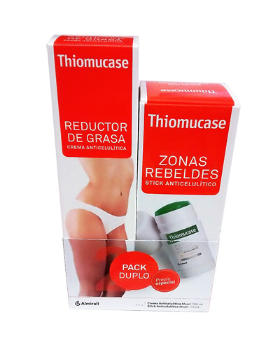 Thiomucase Pack crema anticelulítica 200ml + stick anticelulítico 75ml