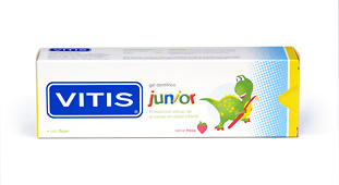 Vitis junior gel dentifrico 75ml sabor fresa