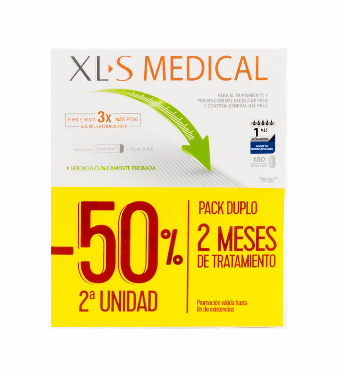 Xls Medical Pack ahorro captagrasas 2x180 pastillas