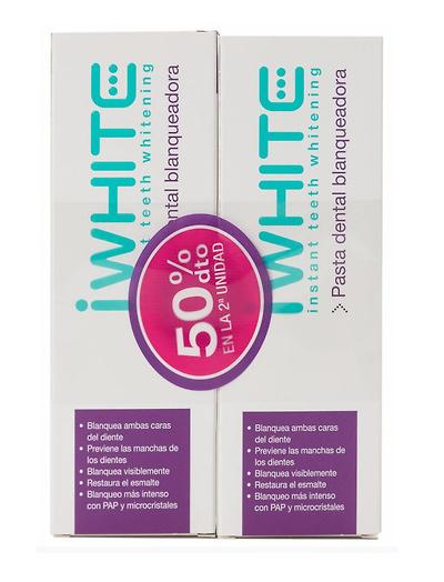 iWhite pasta dental blanqueadora DUPLO 2 x 75ml