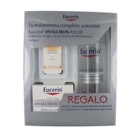 -Eucerin Hyaluron Filler Crema día Pieles Secas 50ML + regalo solución micelar 200ml + sun fluid FPS50, 5ml