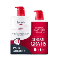 -Eucerin Loción Enriquecida 1000 ml + 400ml de regalo