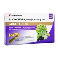 Arkofluido forte alcachofa, hinojo, mate y uva 20 ampollas bebibles