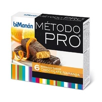 Bimanan Pro Barritas Chocolate Naranja 6 Unidades