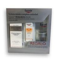 Eucerin Hyaluron Filler Crema Dia Piel Normal y Mixta 50 ml + regalo solución micelar 200ml + sun fluid fps50, 5ml