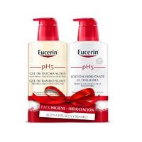Eucerin Pack gel de ducha suave 400ml + locion hidratante ultraligera 400ml