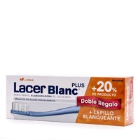 Lacerblanc Plus pasta dental blanqueadora sabor citrus 125ml + regalo 25 ml y cepillo