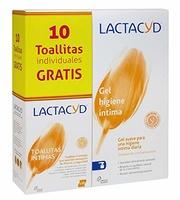 Lactacyd gel higiene íntima 400ml + REGALO 10 toallitas