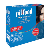 Pilfood pack intensity mujer 15 ampollas + 90 cápsulas + REGALO champu 200ml